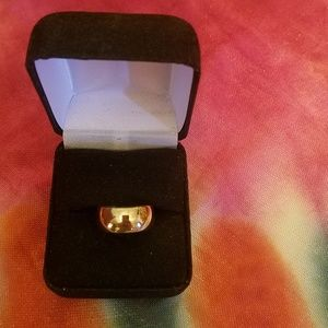 Stampd Jewelry - 14k vintage wide gold band
